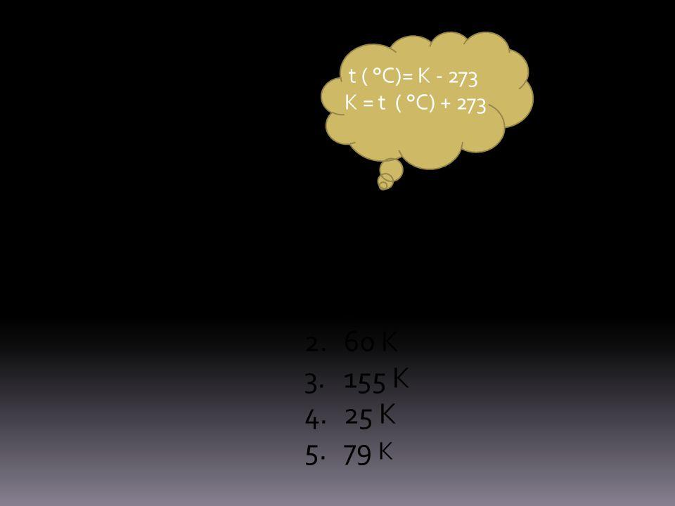 Muunna Celsius-asteiksi 37 K 60 K 155 K 25 K 79 K