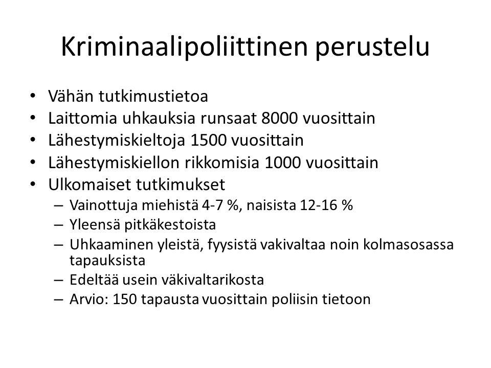 Kriminaalipoliittinen perustelu