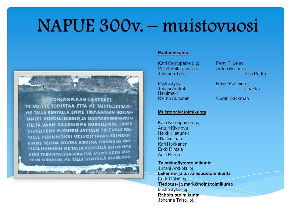 NAPUE 300v. – muistovuosi Päätoimikunta