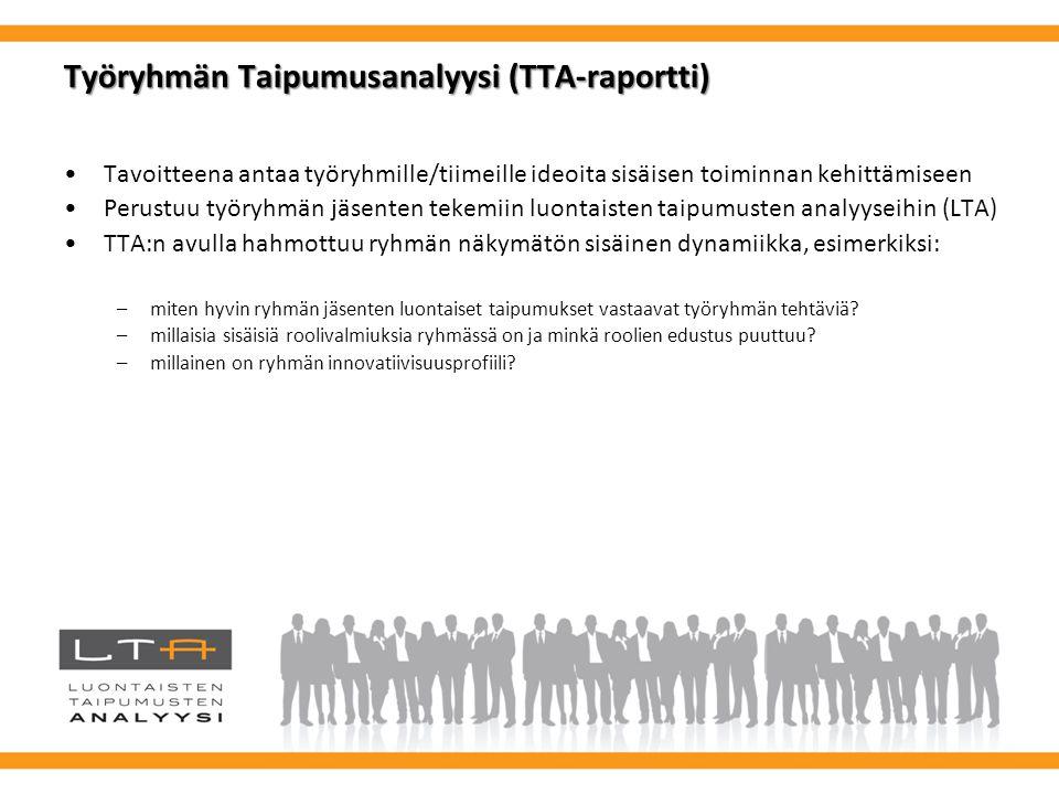 Työryhmän Taipumusanalyysi (TTA-raportti)