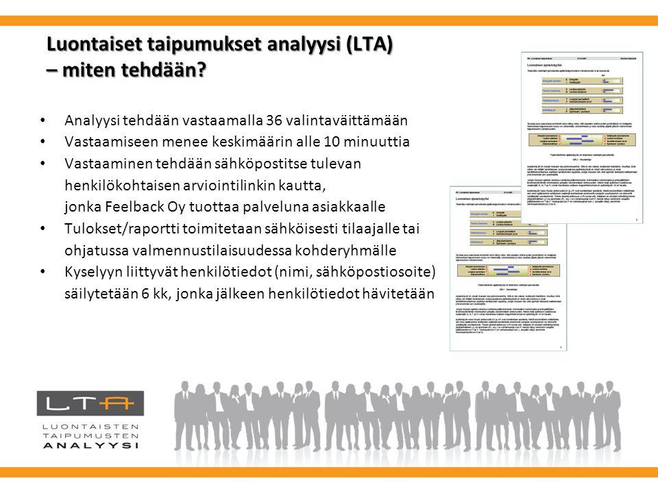 Luontaiset taipumukset analyysi (LTA) – miten tehdään