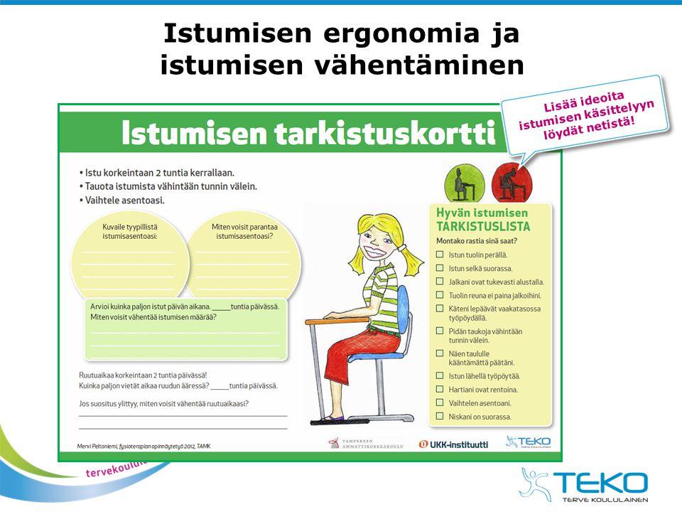 Istumisen ergonomia ja istumisen vähentäminen