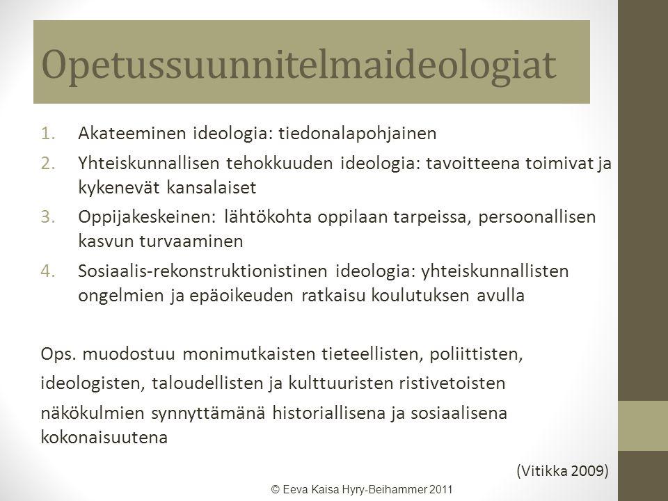 Opetussuunnitelmaideologiat