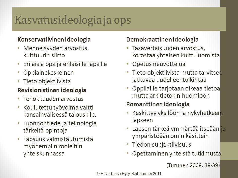 Kasvatusideologia ja ops