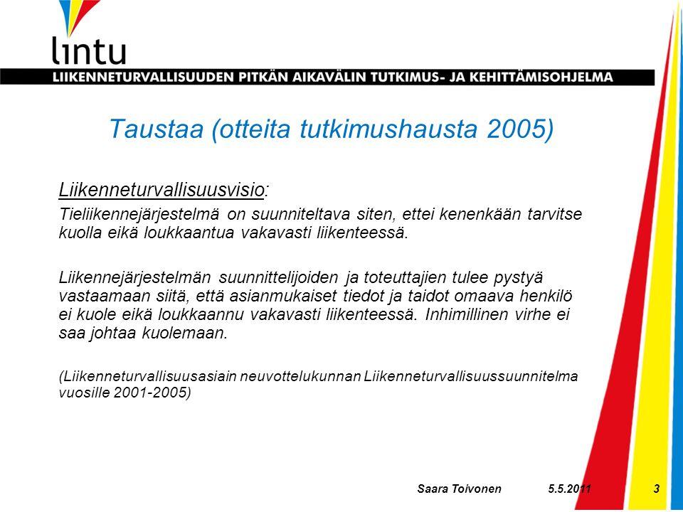 Taustaa (otteita tutkimushausta 2005)