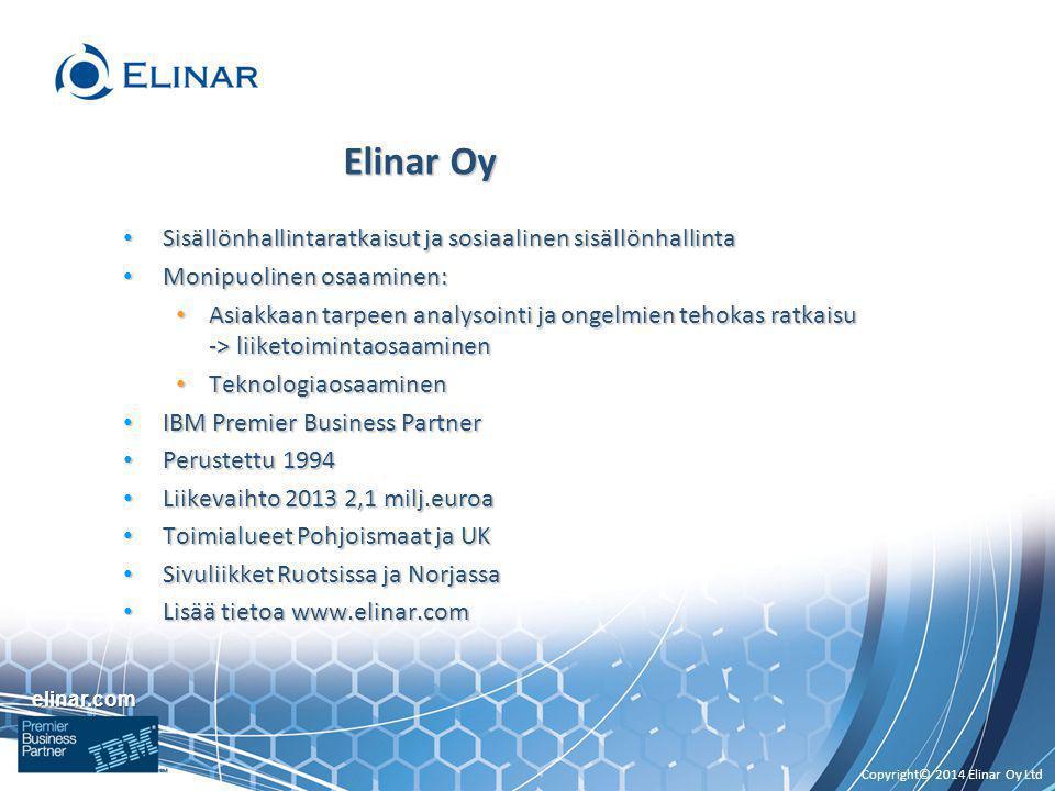 Elinar Oy Sisällönhallintaratkaisut ja sosiaalinen sisällönhallinta