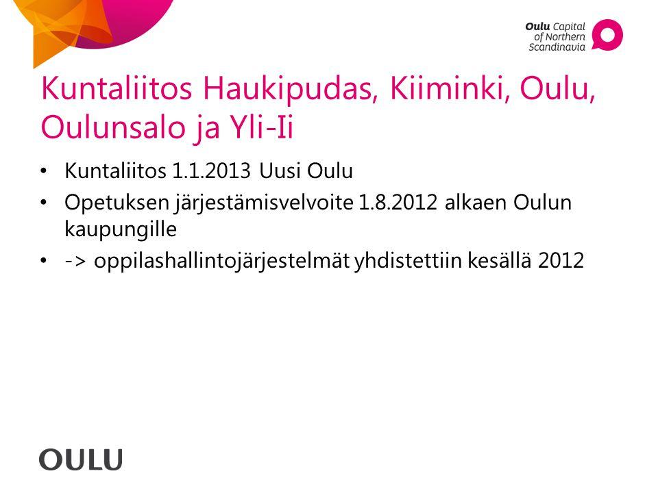 Kuntaliitos Haukipudas, Kiiminki, Oulu, Oulunsalo ja Yli-Ii