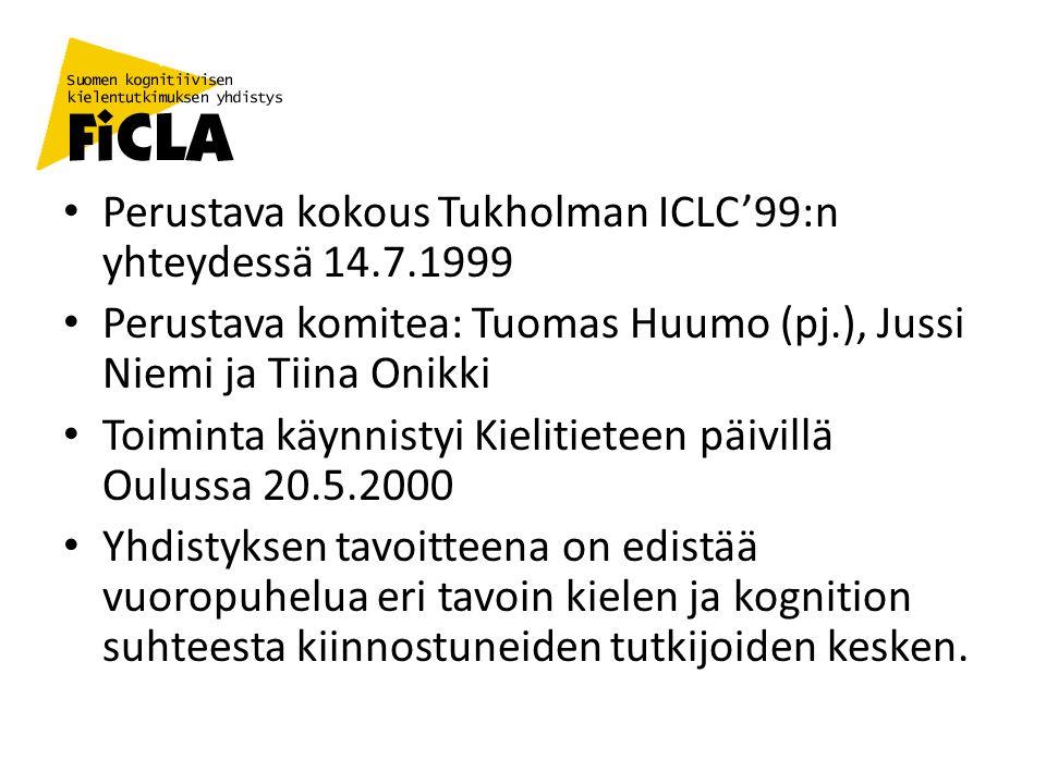 Perustava kokous Tukholman ICLC'99:n yhteydessä 14.7.1999