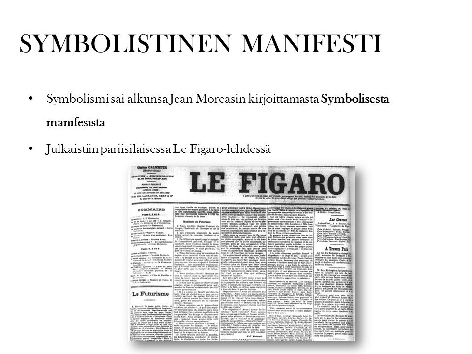 SYMBOLISTINEN MANIFESTI
