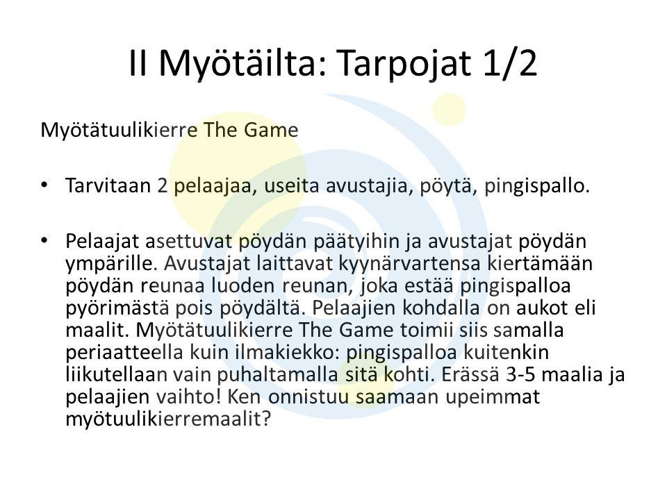 II Myötäilta: Tarpojat 1/2