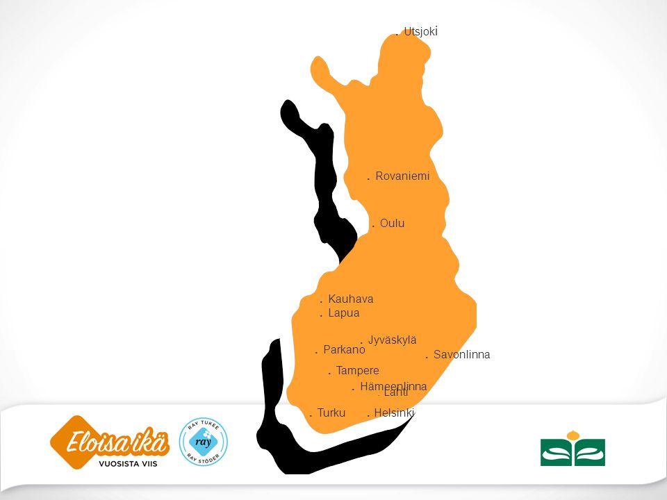 . Utsjoki . Rovaniemi . Oulu . Kauhava . Lapua . Jyväskylä . Parkano