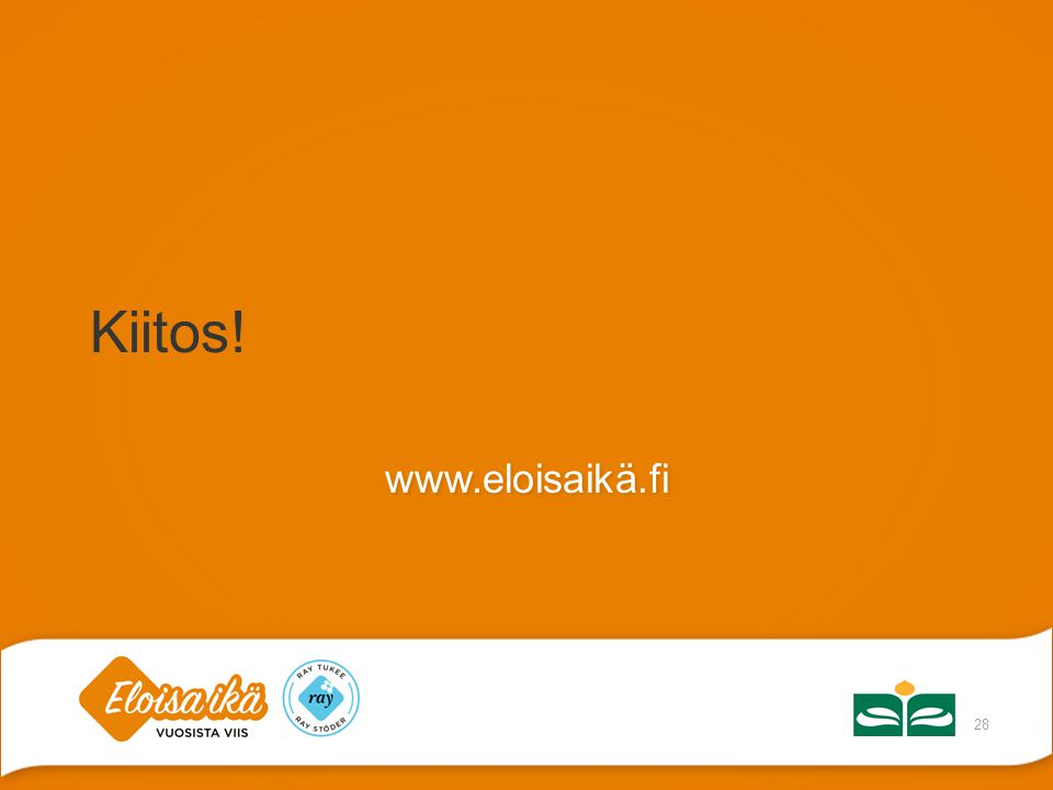 Kiitos! www.eloisaikä.fi