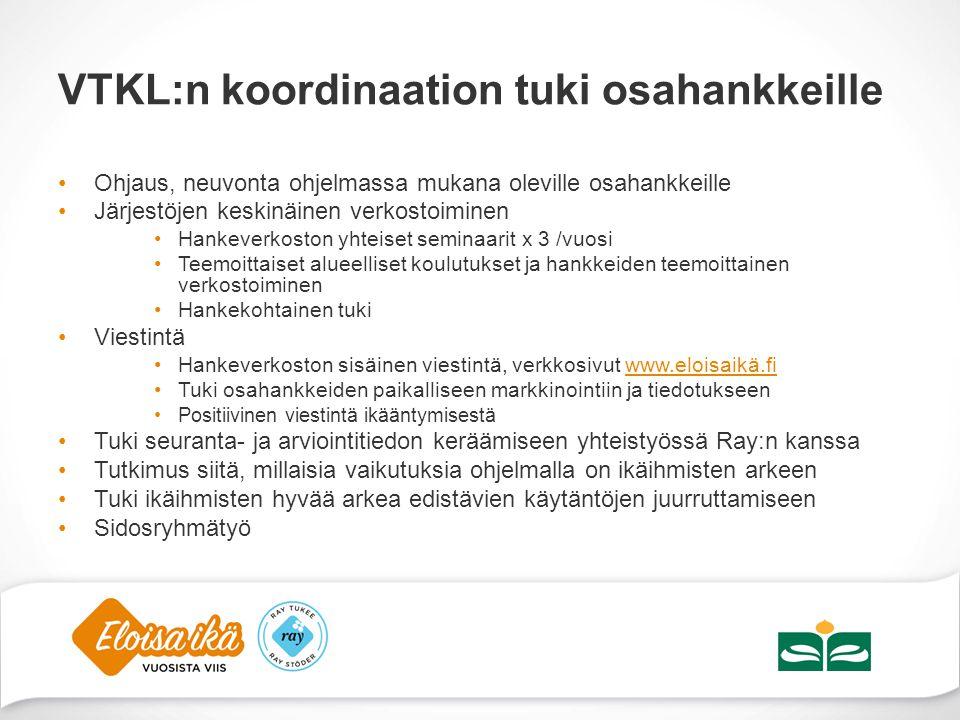 VTKL:n koordinaation tuki osahankkeille