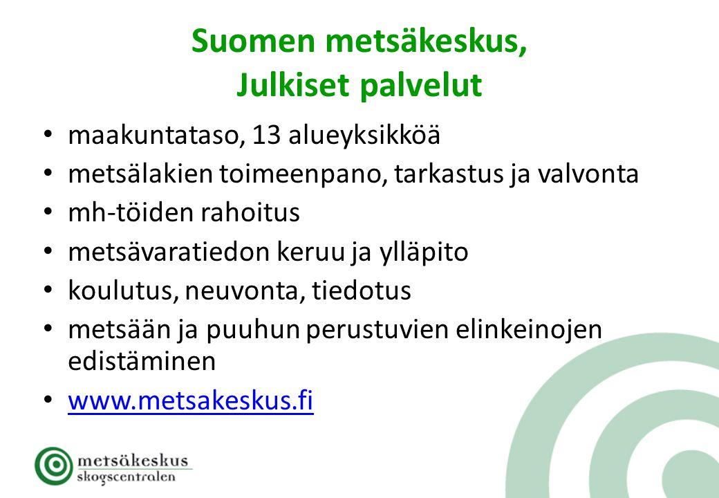 Suomen metsäkeskus, Julkiset palvelut