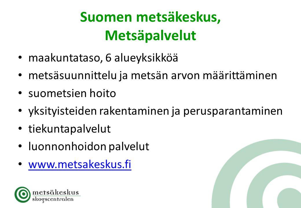 Suomen metsäkeskus, Metsäpalvelut