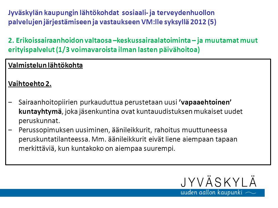 Jyväskylän kaupungin lähtökohdat sosiaali- ja terveydenhuollon