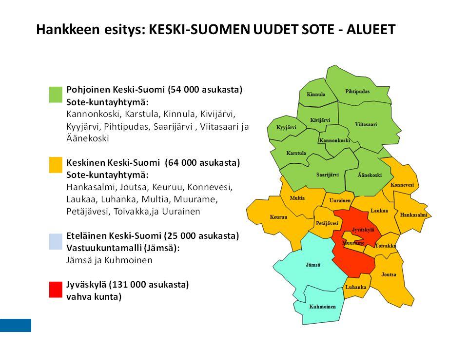 Hankkeen esitys: KESKI-SUOMEN UUDET SOTE - ALUEET