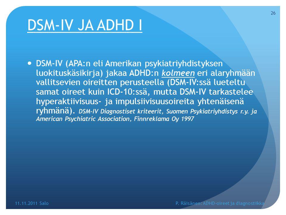 DSM-IV JA ADHD I