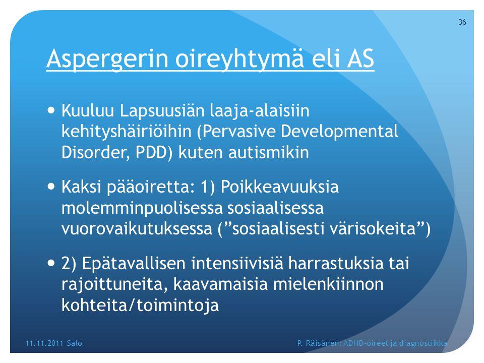 Aspergerin oireyhtymä eli AS