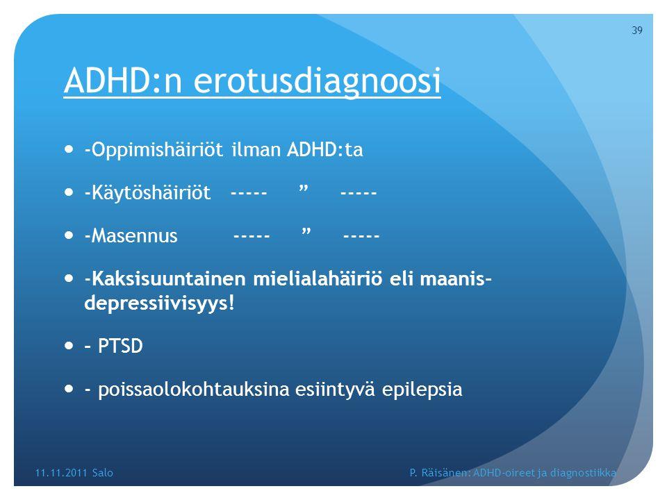 ADHD:n erotusdiagnoosi
