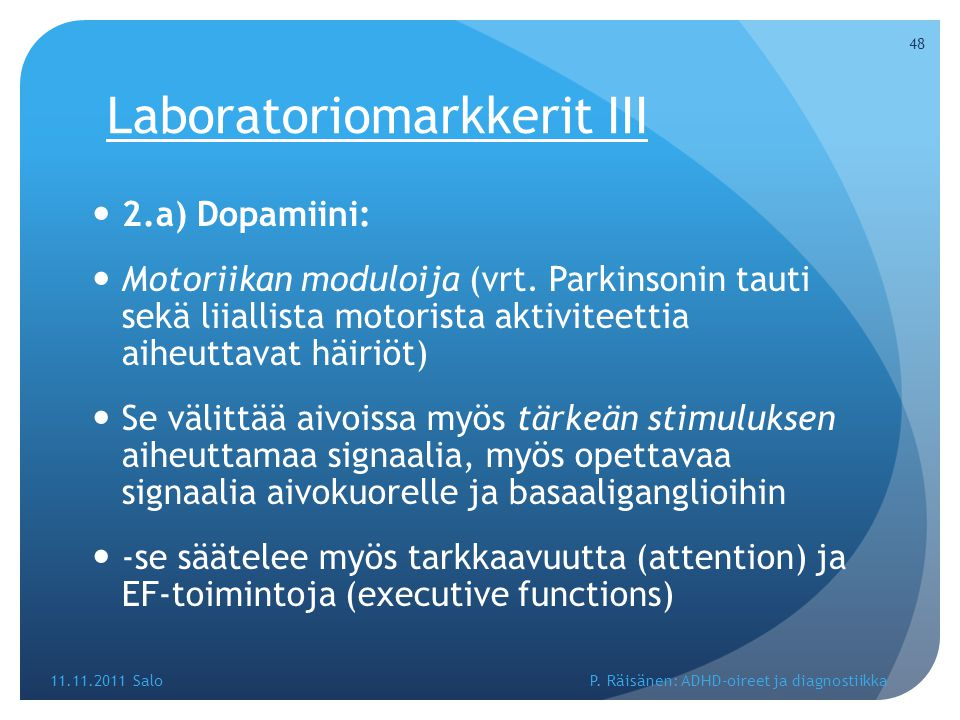 Laboratoriomarkkerit III