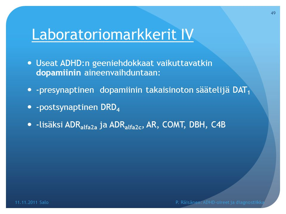 Laboratoriomarkkerit IV