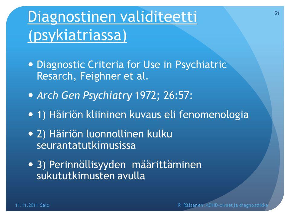 Diagnostinen validiteetti (psykiatriassa)