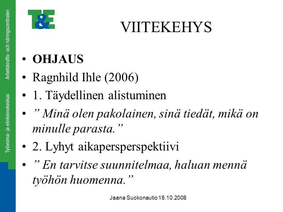 VIITEKEHYS OHJAUS Ragnhild Ihle (2006) 1. Täydellinen alistuminen