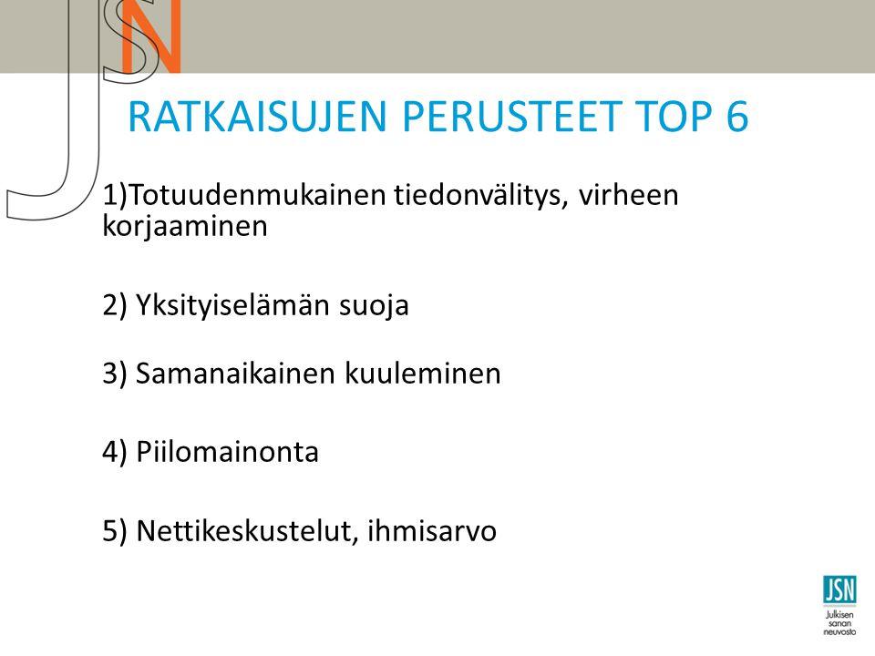RATKAISUJEN PERUSTEET TOP 6