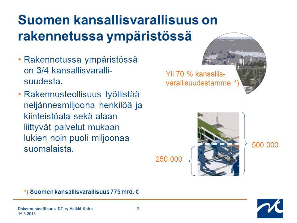 Suomen kansallisvarallisuus on rakennetussa ympäristössä