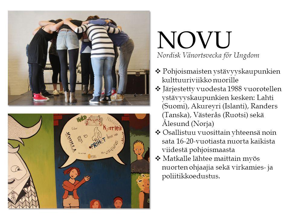 NOVU Nordisk Vänortsvecka för Ungdom Pohjoismaisten ystävyyskaupunkien