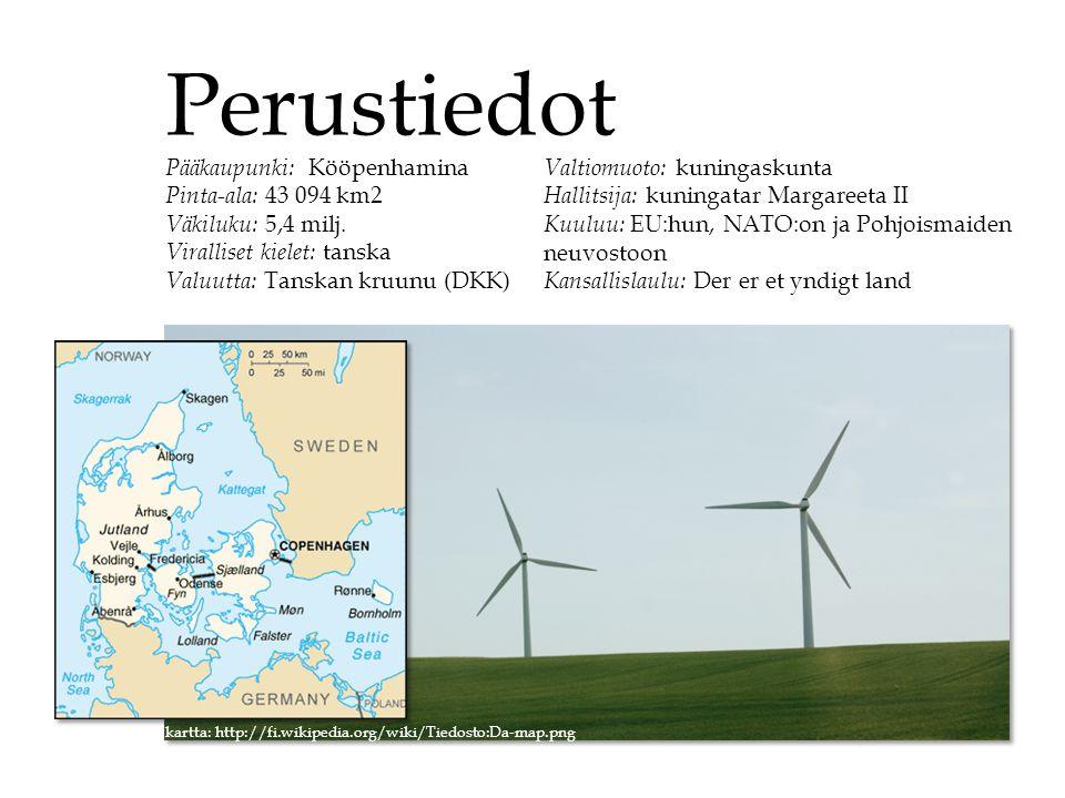 Perustiedot Pääkaupunki: Kööpenhamina Pinta-ala: 43 094 km2