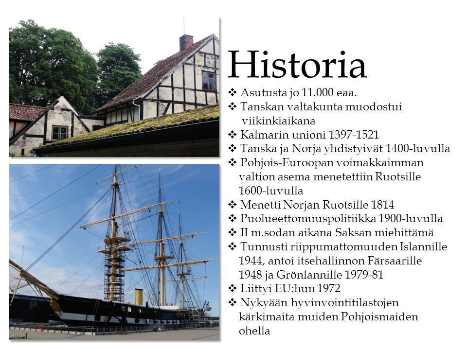 Historia Asutusta jo 11.000 eaa. Tanskan valtakunta muodostui