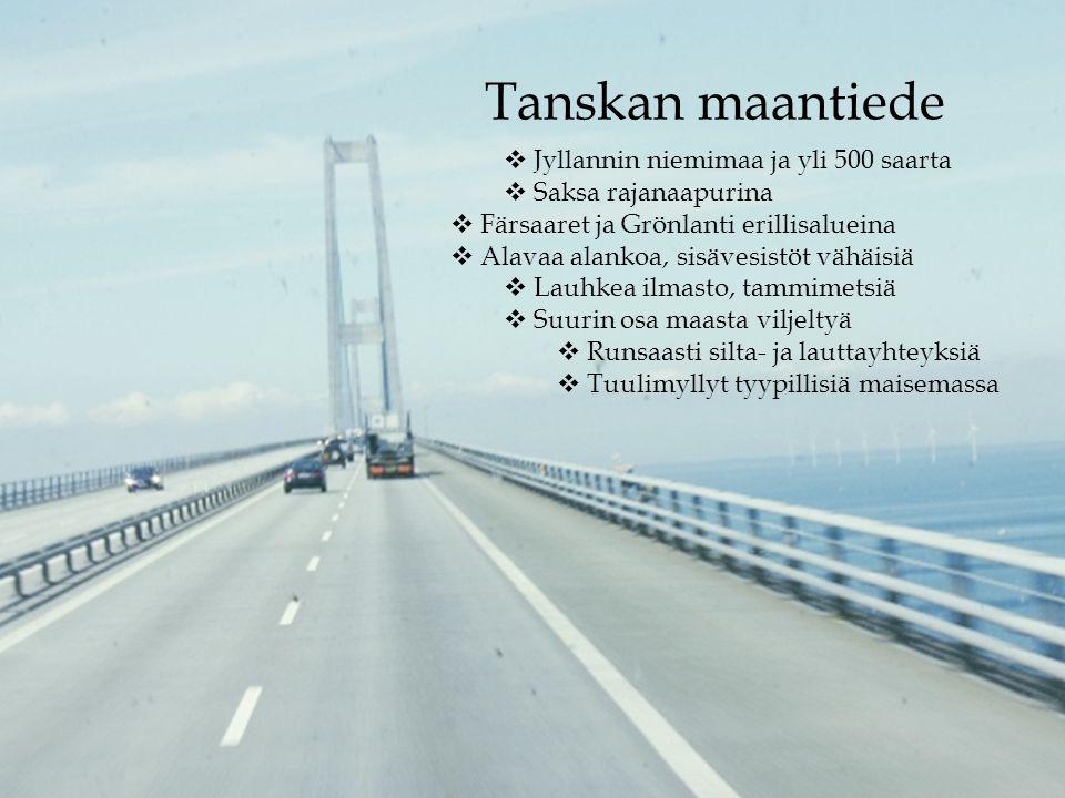 Tanskan maantiede Jyllannin niemimaa ja yli 500 saarta
