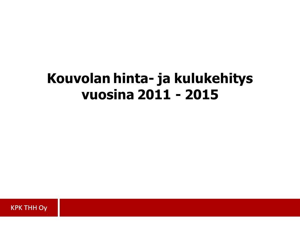 Kouvolan hinta- ja kulukehitys vuosina 2011 - 2015