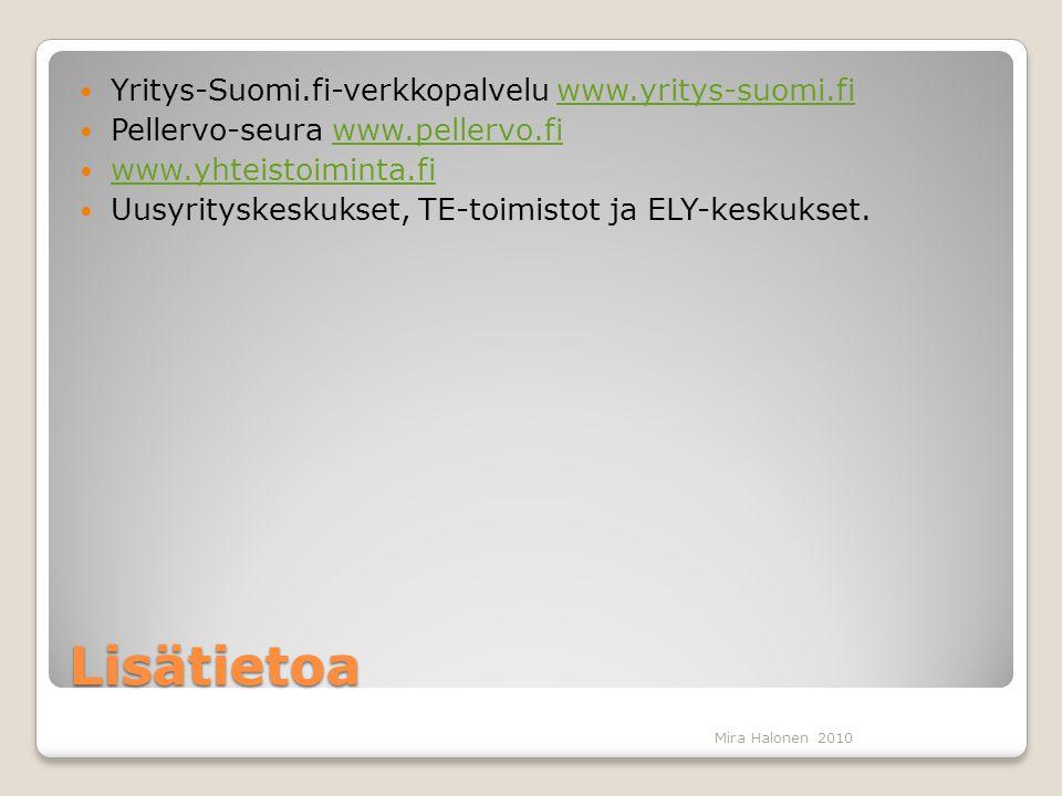 Lisätietoa Yritys-Suomi.fi-verkkopalvelu www.yritys-suomi.fi