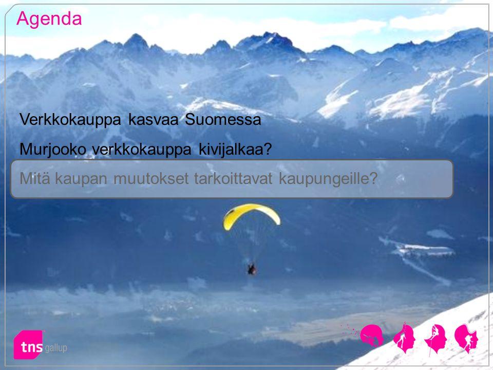 Agenda Verkkokauppa kasvaa Suomessa Murjooko verkkokauppa kivijalkaa