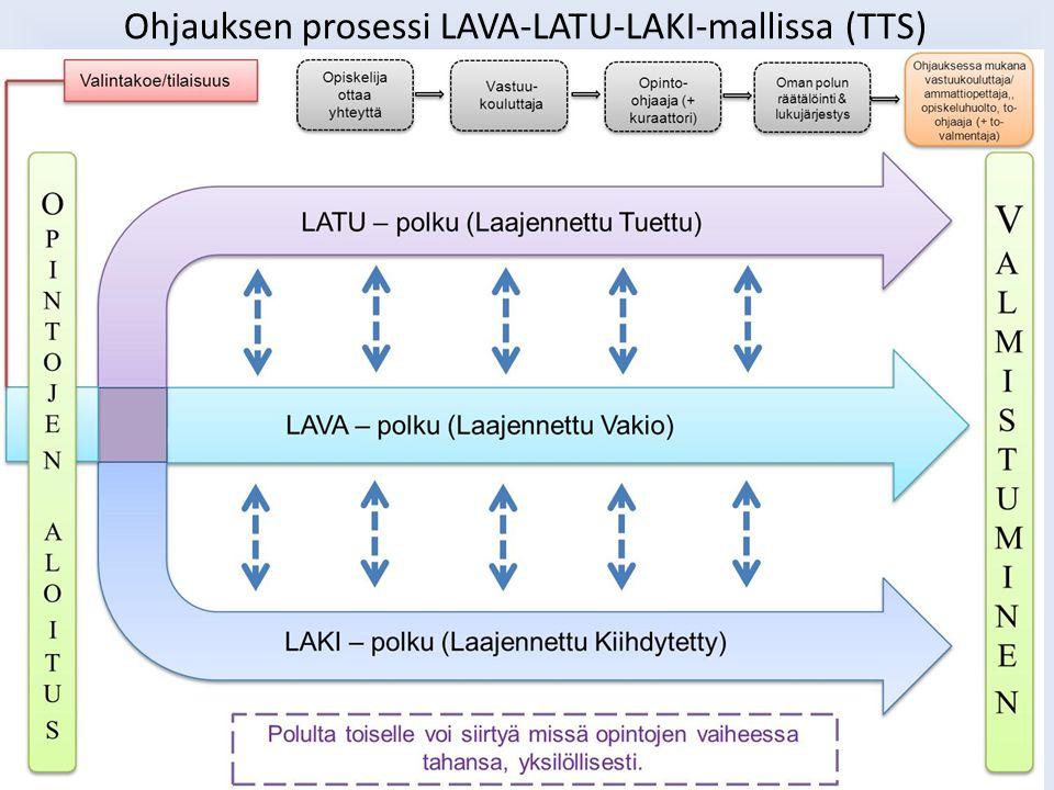 Ohjauksen prosessi LAVA-LATU-LAKI-mallissa (TTS)