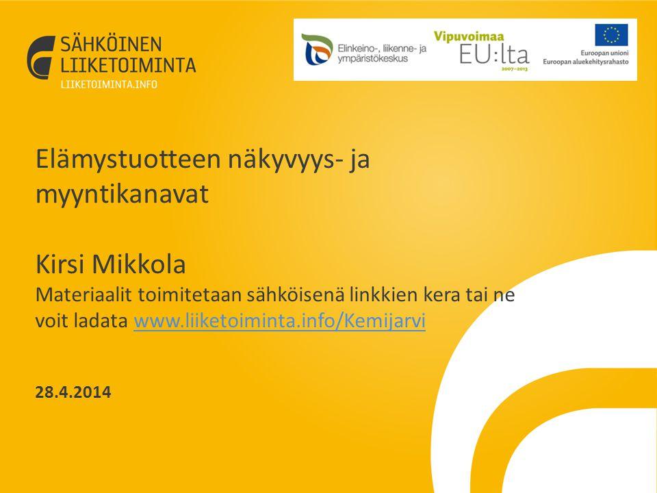 Haaga-Helia matkailun sähköisen liiketoiminnan erikoistumisopinn0t 2014