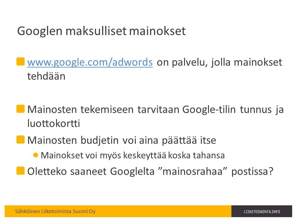 Googlen maksulliset mainokset