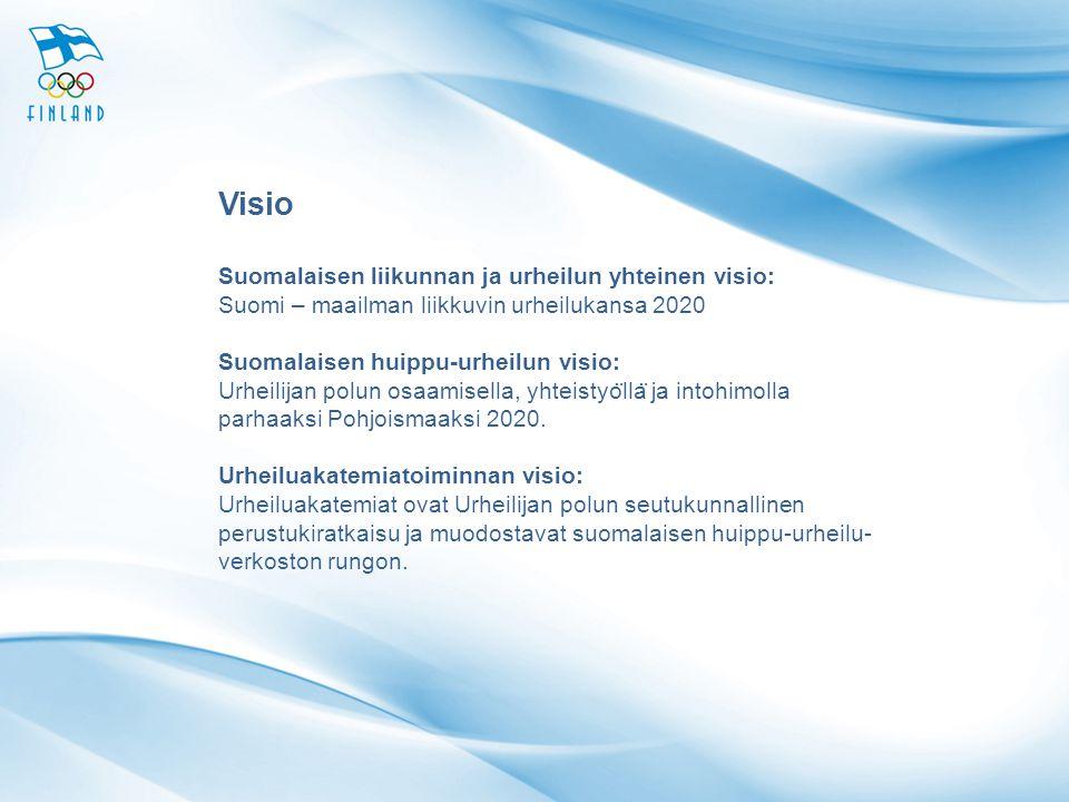 Visio Suomalaisen liikunnan ja urheilun yhteinen visio: