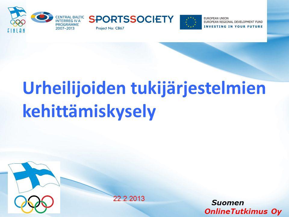 Urheilijoiden tukijärjestelmien kehittämiskysely