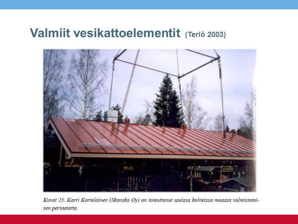 Valmiit vesikattoelementit (Teriö 2003)