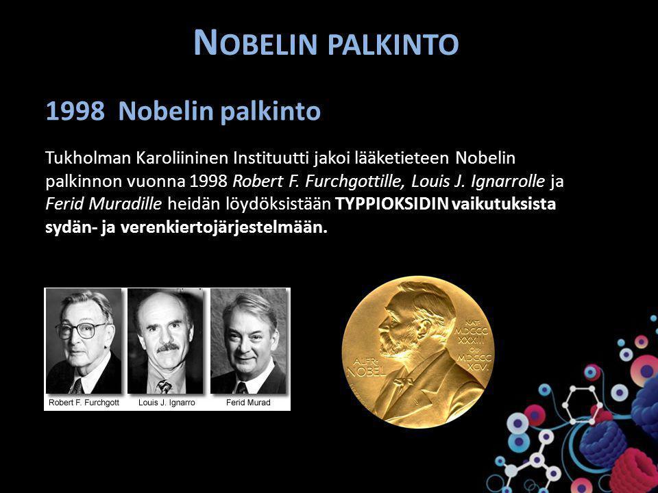 Nobelin palkinto 1998 Nobelin palkinto