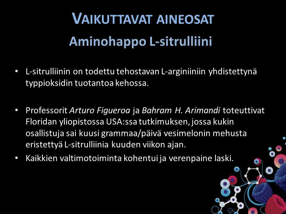 Aminohappo L-sitrulliini