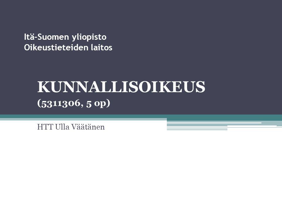 Itä-Suomen yliopisto Oikeustieteiden laitos