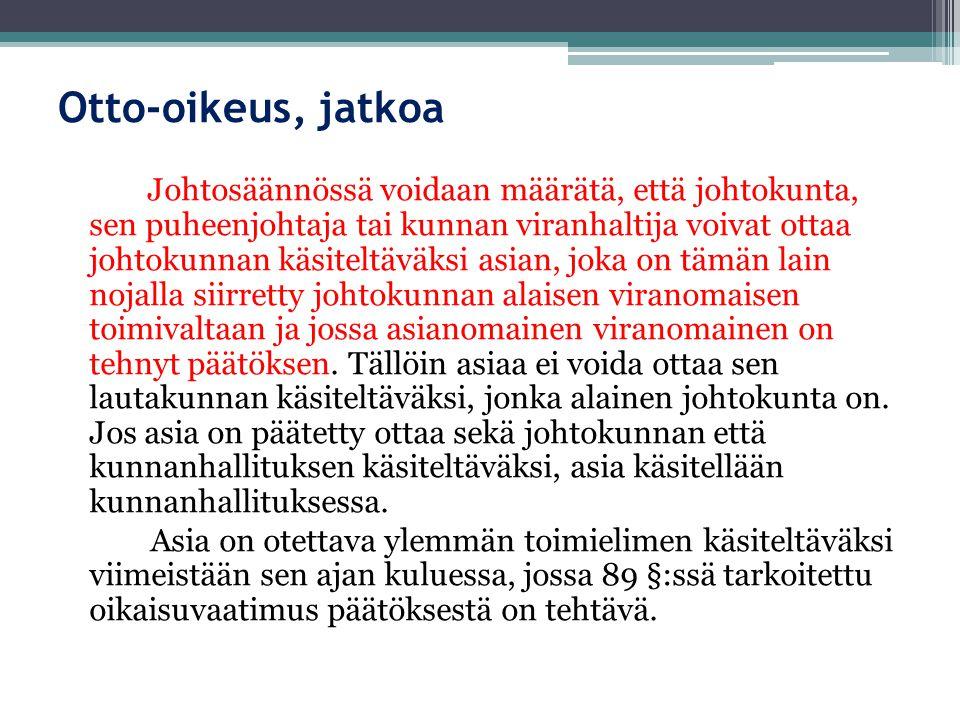 Otto-oikeus, jatkoa