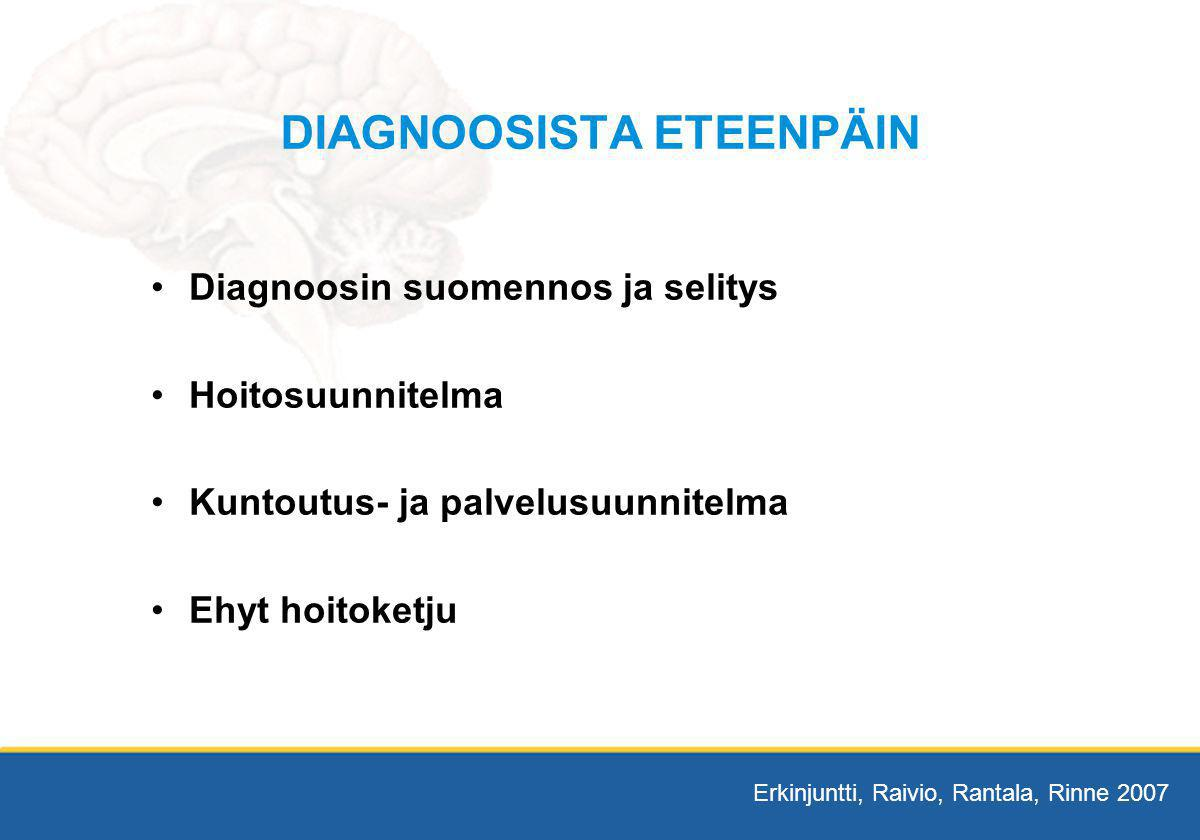 DIAGNOOSISTA ETEENPÄIN