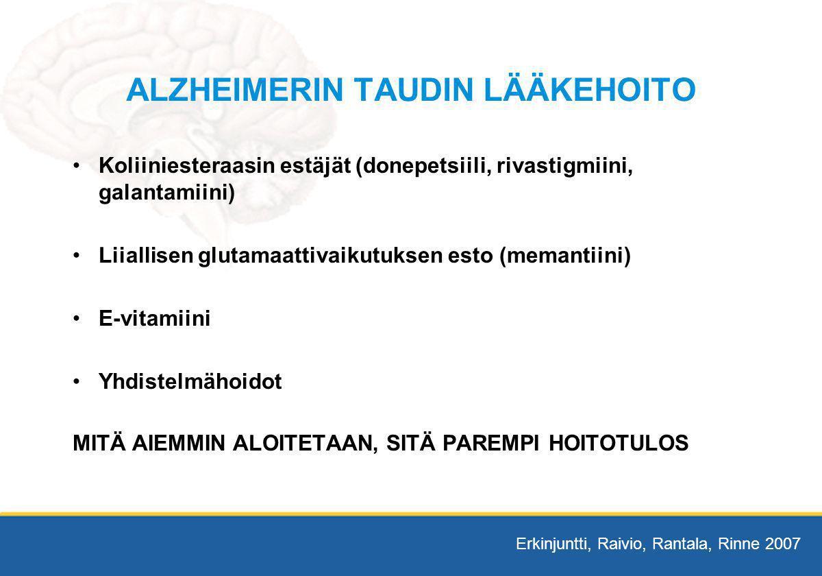ALZHEIMERIN TAUDIN LÄÄKEHOITO