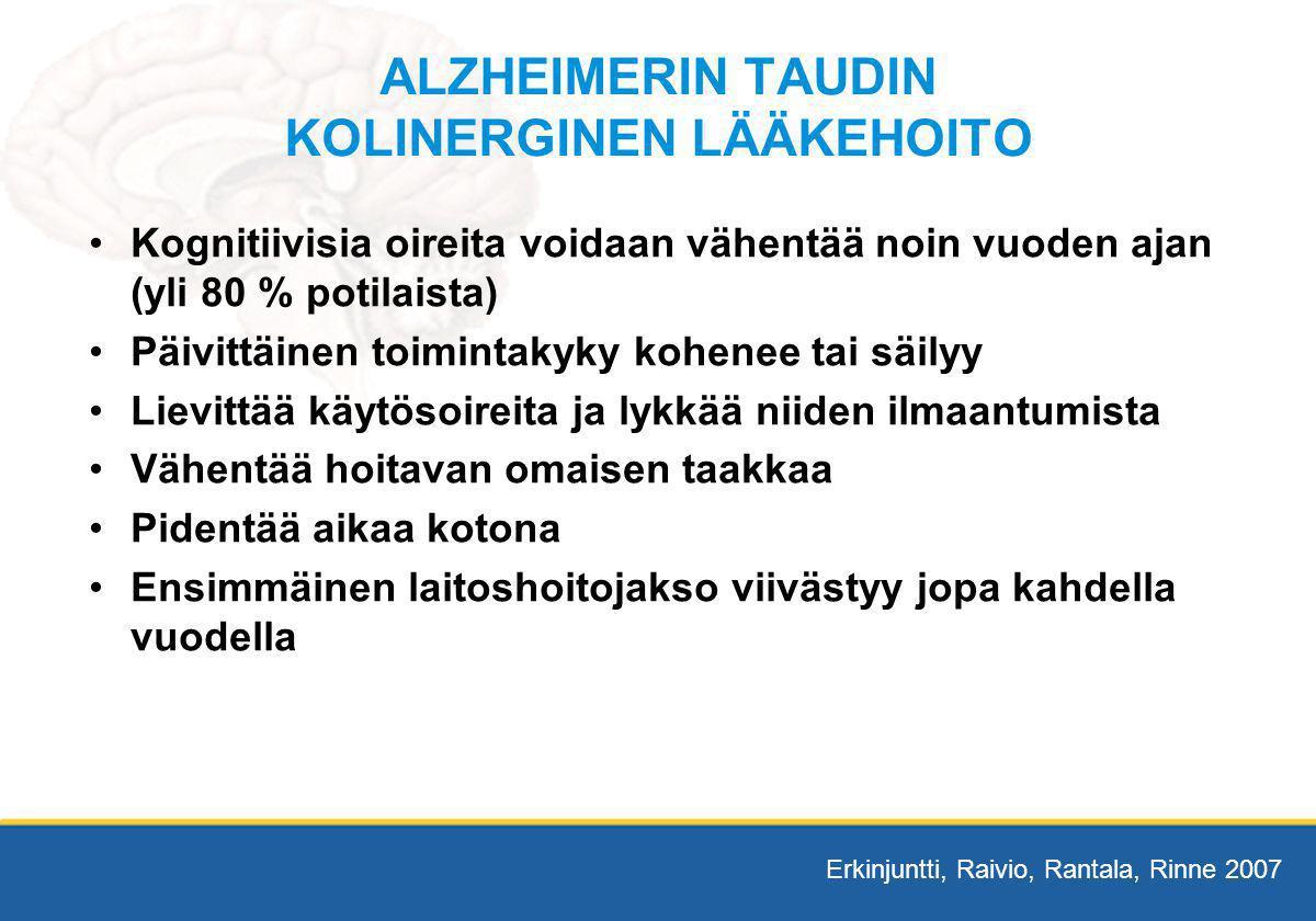 ALZHEIMERIN TAUDIN KOLINERGINEN LÄÄKEHOITO